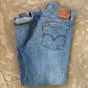 Levi's wedgie jeans white oak cone denim size 27